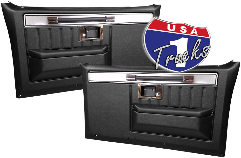 1981-87 Fullsize Chevy & GMC Truck Complete Custom Deluxe Door Panels with Molding