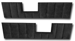 1981-87 Fullsize Chevy & GMC Truck Rear Door Panel Velour Inserts, pairs