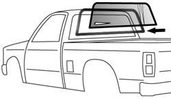 1982-93 Chevy S10 & GMC Sonoma Pickup Rear Window Seal (ea)