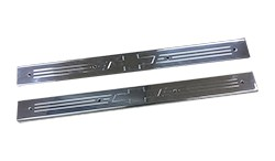 1973-87 Fullsize Chevy & GMC Truck Polished Aluminum Chevy Bowtie Front Threshold Plates
