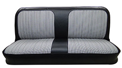 1971-72 Chevy & GMC Truck Original Style Bench Seat Cover with Houndstooth Inserts