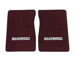 1981-87 Fullsize Chevy Truck Carpet Floor Mats with Silverado Logo