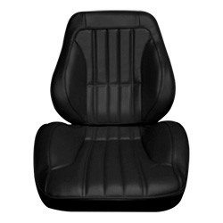 1967-72 Chevy & GMC Truck Touring Style Complete Bucket Seats, Vinyl, Pair