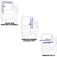 1973-80 Fullsize Chevy & GMC Truck Window Felt & Window Channel Kit