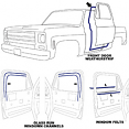 1981-87 Fullsize Chevy & GMC Truck Door Weatherstripping Kit
