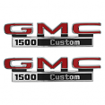 1971-72 GMC Truck Fender Side Emblems, 1500 Custom