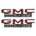 1971-72 GMC Truck Fender Side Emblems, 2500 Super Custom