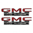1971-72 GMC Truck Fender Side Emblems, 1500 Sierra Grande