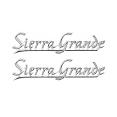 1969-72 GMC Truck Rear Quarter Emblem, Sierra Grande