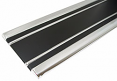 1969-72 Blazer & Jimmy Lower Body Side Molding Kit, Black with Adhesive Clips