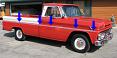 1962-66 GMC Truck Fleetside Longbed Body Side Molding Kit