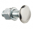"""Chevy & GMC Truck """"Low Dome"""" Stainless Capped Bumper Bolt, Each"""