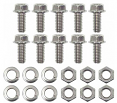 1954-87 Chevy & GMC Truck Front Bed Panel Bolt Kit with Wood Floor