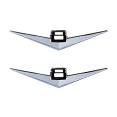 1955-56 CHEVY Truck V8 Fender Side Emblems, Pair