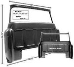 1955-59 Chevy & GMC Truck Rear Outer Cab Panel with Large Window