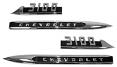 1956 CHEVY Truck 3100 Fender Side Emblem, Pair