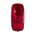 1960-66 CHEVY Truck Red Tail Light lens with Bowtie, Fleetside