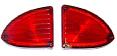 1960-66 Chevy & GMC Suburban & Panel Tail Light Lenses, Pair