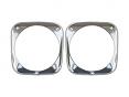 1964-66 Chevrolet Truck Headlight Bezels, Pair