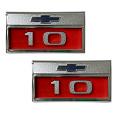 1966 CHEVY Truck 10 Fender Side Emblems, Pair