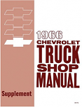 1966 Chevy Truck Shop Manual Supplement