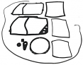 1967-72 Chevy & GMC Truck Heater Box Seal Kit with Air