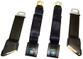 1967-72 Chevy & GMC Truck OE Style Seat Belt 3 Person Set, Black