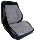 1967-72 Chevy & GMC Truck Touring Style Complete Bucket Seats, Vinyl w/Houndstooth Inserts, Pair