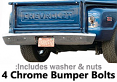 1967-72 Chevy & GMC Stepside Truck Rear Bumper Bolt Kit