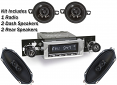 1973-87 Fullsize Chevy & GMC Truck Stereo Radio & Speaker Kit
