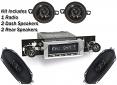 1973-87 Fullsize Chevy & GMC Truck Stereo Radio & Speaker Kit