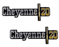 1973-74 Chevy Truck CHEYENNE 20 Fender Emblems