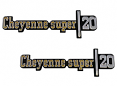 1973-76 Chevy Truck CHEYENNE SUPER 20 Fender Emblems