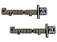 1973-76 Chevy Truck CHEYENNE SUPER 20 Fender Emblems