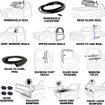 1973-77 Fullsize Chevy & GMC Truck Complete Weatherstripping Kit