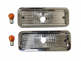 1973-80 Fullsize Chevy & GMC Truck Custom Clear Parklight Assemblies, Pair