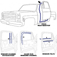 1973-80 Fullsize Chevy & GMC Truck Door Weatherstripping Kit