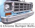 1973-80 Fullsize Chevy & GMC Truck Front Bumper Bolt Kit