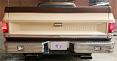 1973-87 Fullsize Chevy & GMC Fleetside Truck Rear Step Bumper With Rectangle Reverse Lights, Chrome