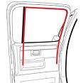 1973-91 Fullsize Chevy & GMC Truck Crew Cab Rear Door Glass Run Window Channel Seal (ea.)