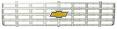 1975-76 Fullsize Chevy Truck Front Grille w/Foil Bowtie Emblem, Factory Style