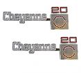 1975-80 Chevy Truck CHEYENNE 20 Fender Emblems