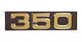 "1975 Chevy Truck Front Grille Emblem, ""350"""