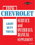 1976 Chevy Truck Chassis Service Manual Supplement
