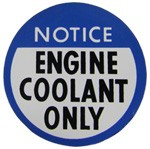 1978-82 Fullsize Chevy & GMC Truck Engine Coolant Only Decal