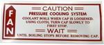 1979-80 Fullsize & GMC Truck Caution Fan Decal