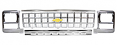 1980 Chevy Truck Grille Kit, Square Headlights, Chrome