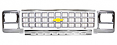 1980 Chevy Truck Grille Kit, Square Headlights, Silver
