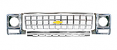 1980 Chevy Truck Grille Kit, Round Headlights, Chrome