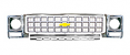 1980 Chevy Truck Grille Kit, Round Headlights, Silver